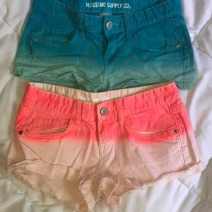 Two ombré Mossimo Supply Co. shorts